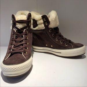 Converse Suede Wedge Sneakers